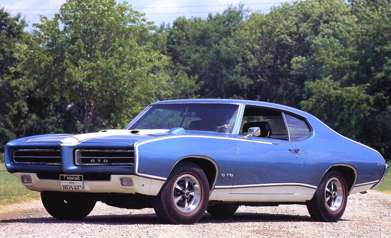 1969 Pontiac Royal GTO Hardtop Blue Fvl