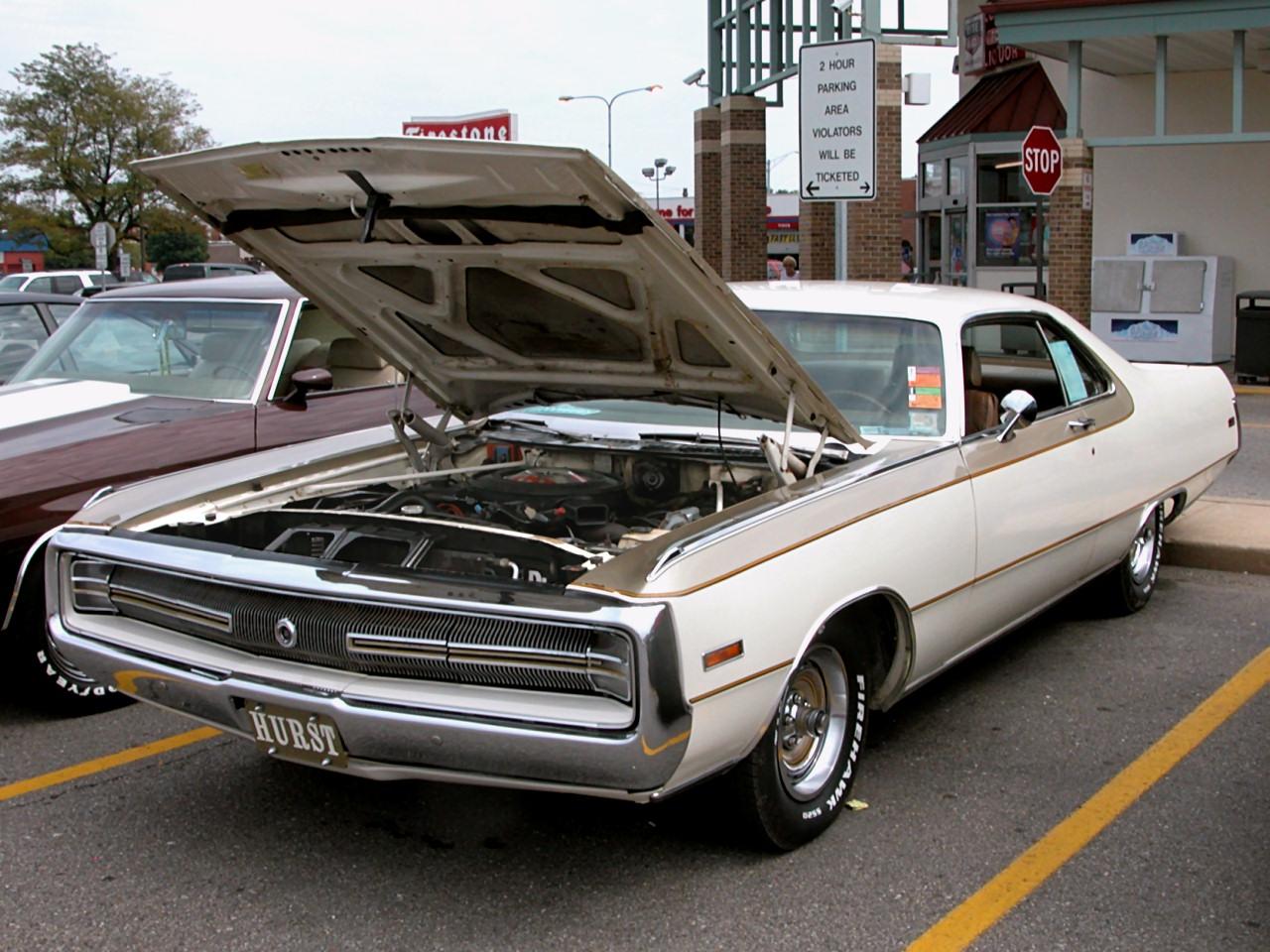 1970 Chrysler Hurst 300 Hardtop Hurst Gold Poly Spinnaker White Fvl 2005 Dream Cruise N