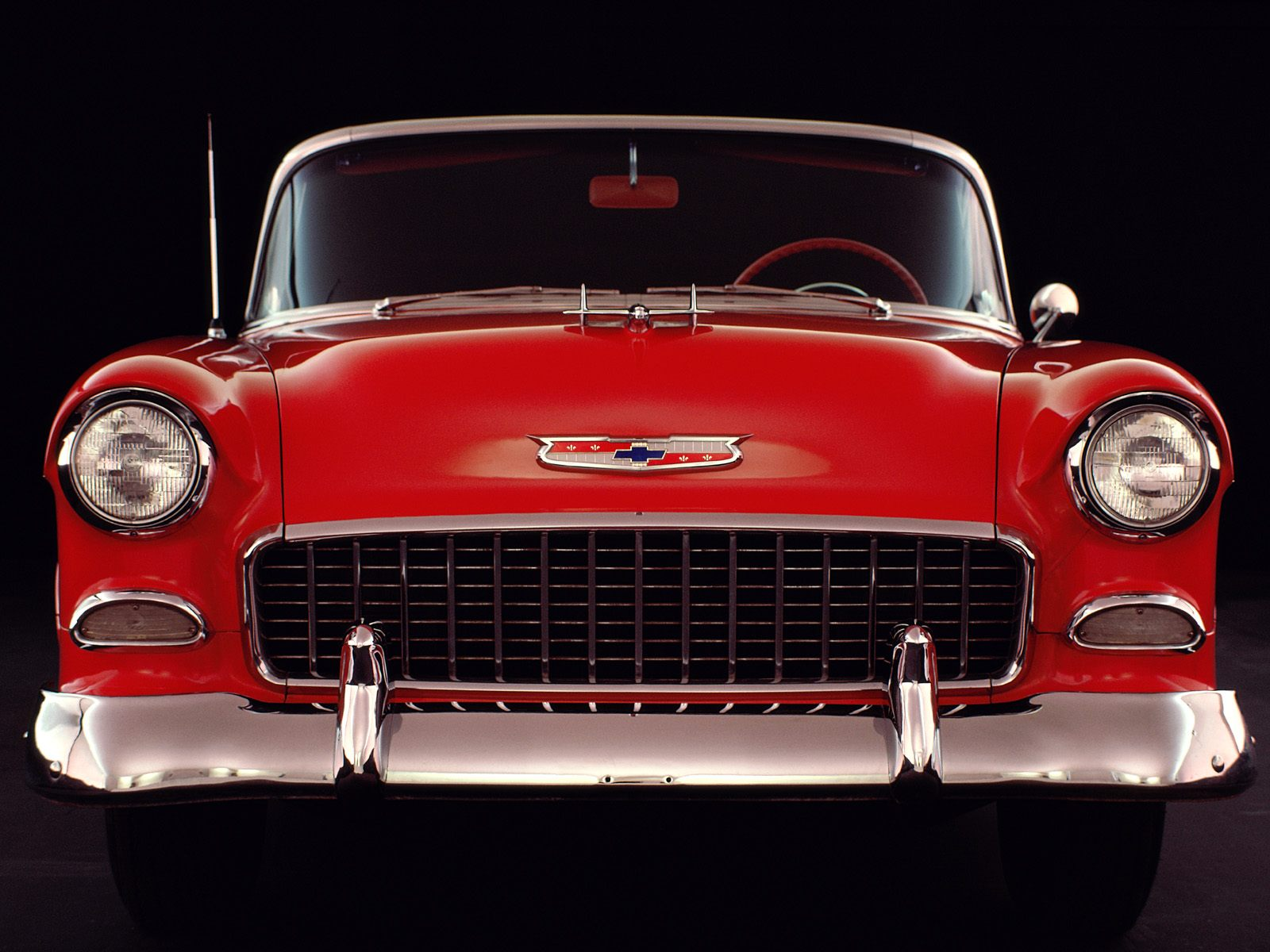 An American Classic 1955 Chevrolet Bel Air  Wallpaper Image featuring