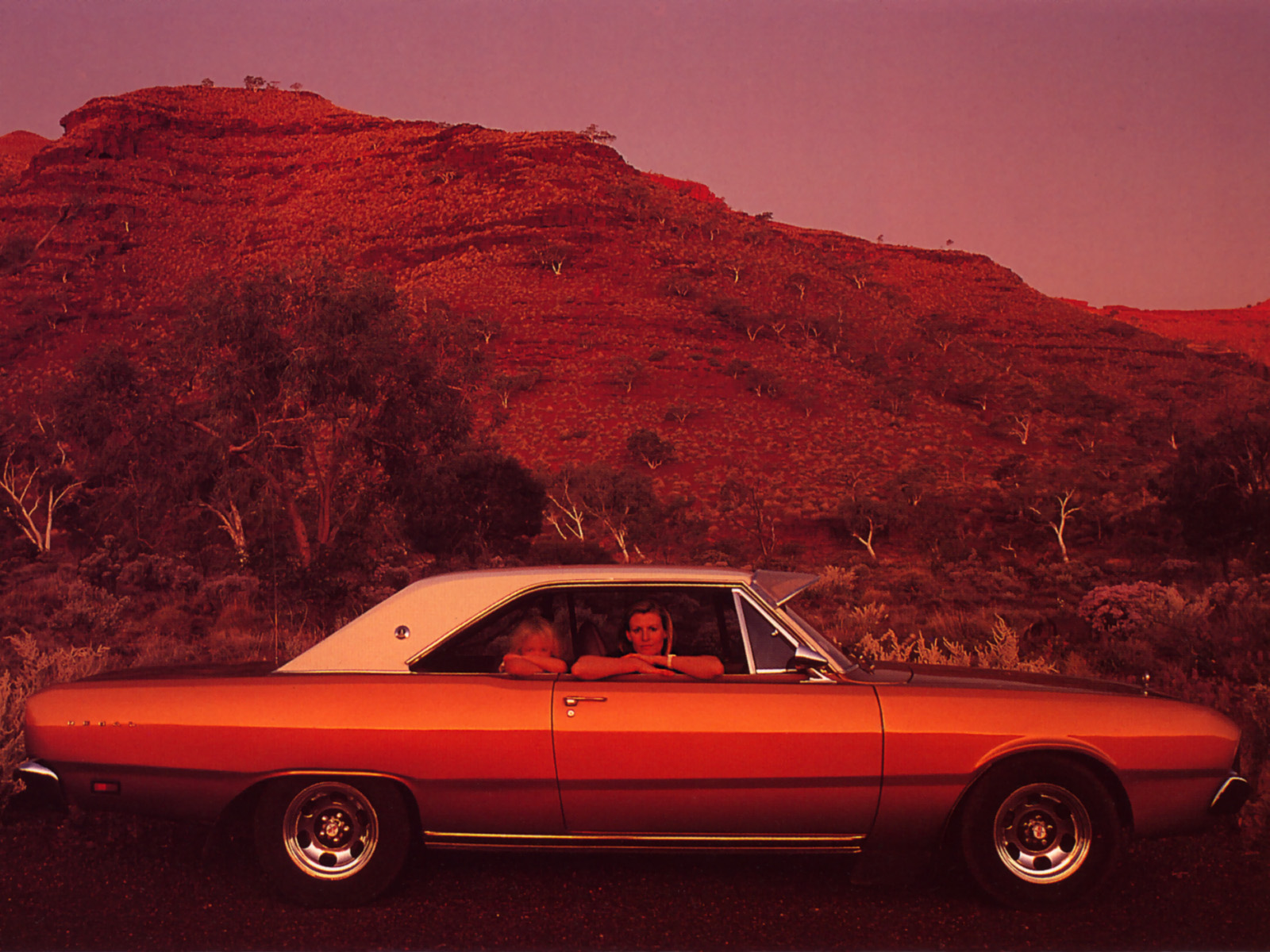 Classic Car In Australian Outback