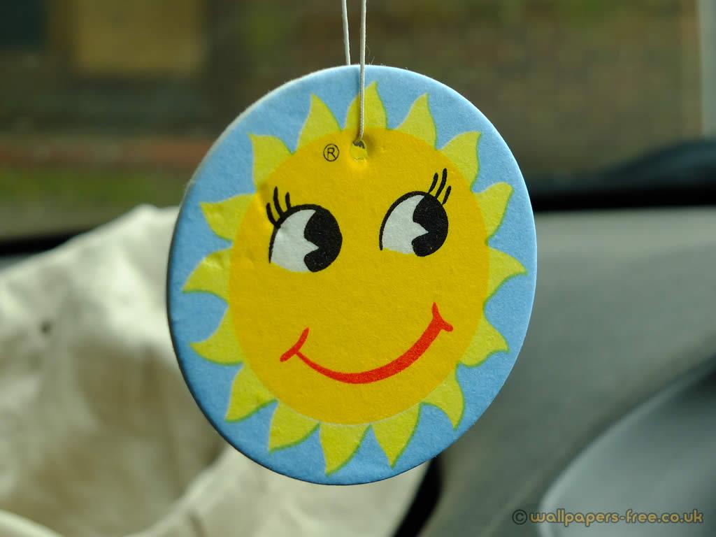 Smiley Sunny Face Car Freshener