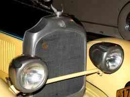 1927 Chrysler Imperial Sportif Dual Cowl Phaeton Yellow Black Radiator Detail H Ford Museum CS