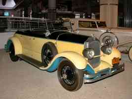 1927 Chrysler Imperial Sportif Dual Cowl Phaeton Yellow Black fvr H Ford Museum CS