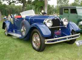 1927 Duesenberg Model X Boattail Roadster Blue fvr
