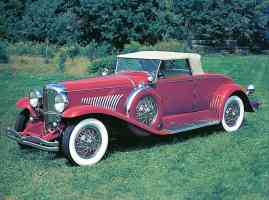 1928 Duesenberg Convertible Coupe Red fvl