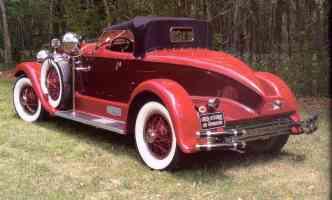 1929 Auburn Boattail Speedster Red rvl
