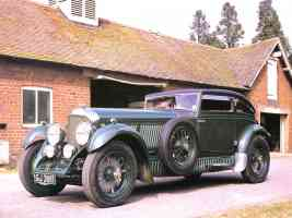 1930 Bentley Speed Six 2 Door Sedan Dark Green fvl