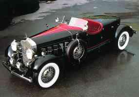 1930 Cadillac V 16 Boattail Speedster Black Red Top fvl