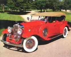 1930 Cadillac V 16 Dual Cowl Sport Phaeton Red fvl