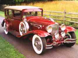 1930 Cord L 29 Formal Sedan Red fvr