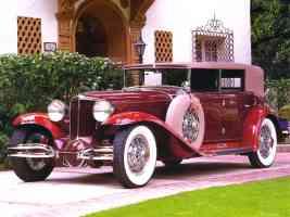 1930 Cord L 29 Phaeton Maroon fvl