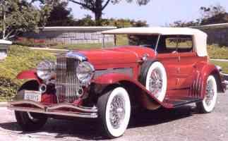 1930 Duesenberg 4 Door Convertible Red fvl