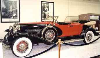 1930 Duesenberg J Dual Cowl Phaeton by LeBaron Black Red fsv