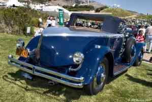 1930 Duesenberg J Murphy roadster blue boat tail view rvr