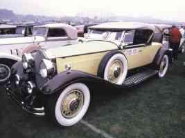 1930 Packard V 12 Roadster Yellow Black fvl 35mm Hershey PA 1970