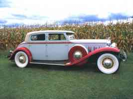 1930 Stutz Monte Marlo 4 Door Sedan Light Blue Red svr