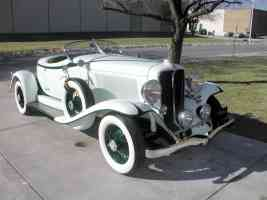 1931 Auburn 8 98 Boattail wht fV