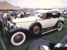 1931 Cadillac V 16 Dual Cowl Phaeton Cream fsv 35mm Hershey PA 1970
