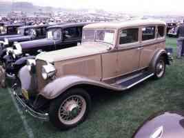1931 Chrysler DeLuxe 8 4 Door Sedan Tan Brown fvl 35mm Hershey PA 1970