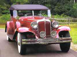 1931 Chrysler Imperial 4 Door Phaeton Red fvr