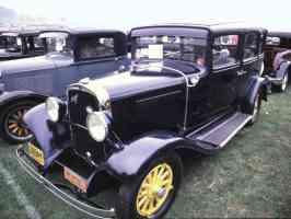 1931 DeSoto 4 Door Sedan Black fvl 35mm Hershey PA 1970