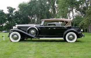 1931 Duesenberg J Derham Tourster blk sVl mx