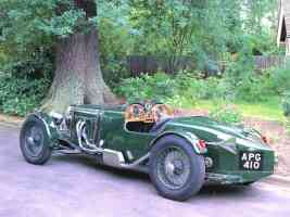 1932 Aston Martin LeMans Race Car Green Rr sv