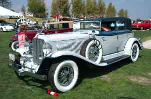 1932 Auburn 1260A Phaeton gray with blue accents fvl