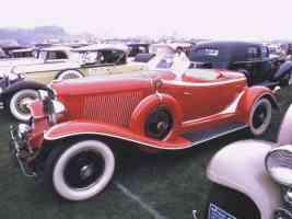 1932 Auburn Boattail Speedster Red fsv 35mm Hershey PA 1970