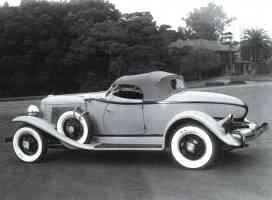 1932 Auburn Boattail Speedster Rr sv BW
