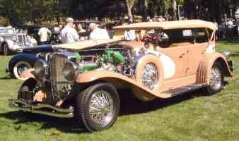 1932 Duesenberg J Touring Car Tan fvl