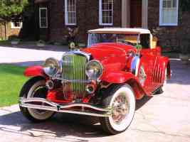 1932 Duesenberg Model J Convertible by Murphy Red fvl