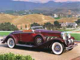 1932 Duesenberg Model SJ Convertible by Walker Grande Red Maroon fsvr