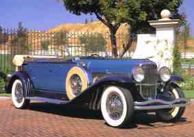1932 Duesenberg Model SJ Dual Cowl Phaeton Blue fvr