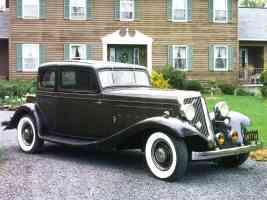 1932 Franklin Series 17 Aircooled V 12 2 Door Club Brougham Black fvr