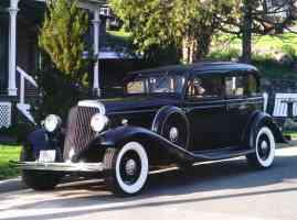 1932 Franklin Series 17 Aircooled V 12 4 Door Sedan Black fvl