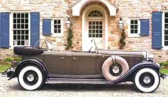 1932 Lincoln KB Dual Cowl Sport Phaeton Brown svr