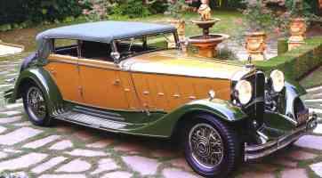 1932 Maybach Zeppelin 4 Door Convertible Tan Green fvr