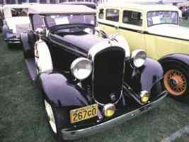 1932 Plymouth Model PB Roadster Black fvr 35mm Hershey PA 1970