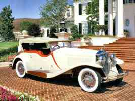 1933 Isotta Fraschini Dual Cowl Phaeton Body by Castagna of Milan Cream fvr