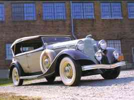 1933 Lincoln KA V 12 Dual Cowl Phaeton Tan Brown fvr