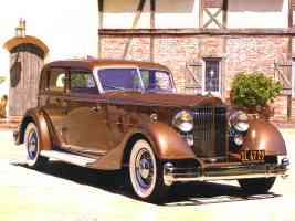 1933 Packard Twelve 3182 Deitrich V Windshield Special Sport Sedan Car of the Dome Bronze fvr