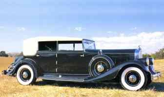 1933 Pierce Arrow V 12 4 Door Convertible Body by LeBaron Black fsvr
