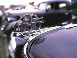 1933 Plymouth 5 Window Coupe Radiator Ornament 35mm Hershey PA 1970