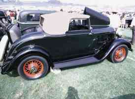 1933 Plymouth Cabriolet Black rsvr 35mm Hershey PA 1970