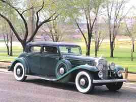 1933 Stutz Monte Carlo DV32 4 Door Sedan Dark Green fvr