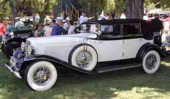 1934 Auburn V 12 4 Door Convertible White sv