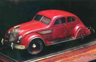 1934 Chrysler AirFlow 2 Door Bronze Sculpture