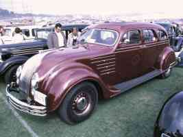 1934 Chrysler Imperial Airflow 4 Door Sedan Maroon fvl 35mm Hershey PA 1970