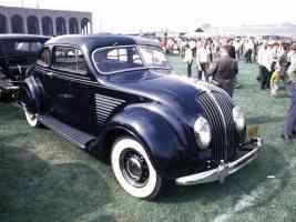 1934 DeSoto Airflow 2 Door Sedan Black fvr 35mm Hershey PA 1970